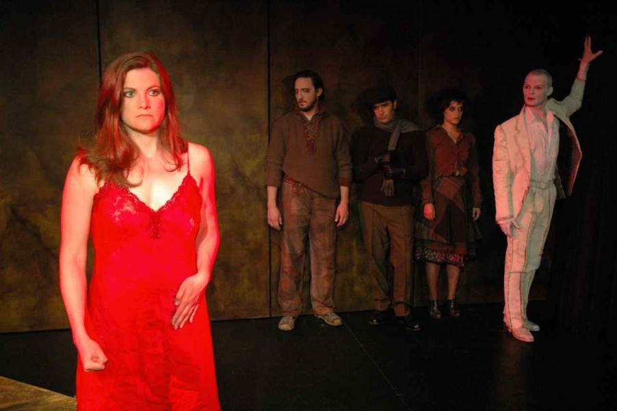 Heather Stone, Sean Byrd, Jim Bovino, Sara Richardson, Wade A. Vaughn in Victoria In Red: Sandbox Theatre 2005.