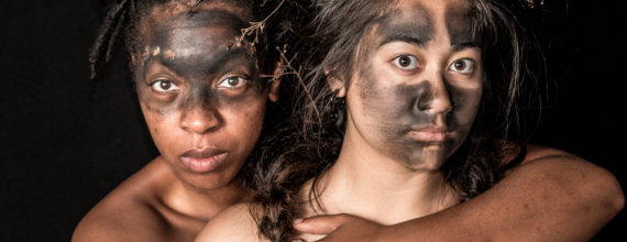 Ashawnti ford and Michelle de Joya in 600 Years - Photo by Matthew Glover for Sandbox Theatre