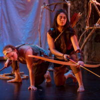 Evelyn Digirolamo and Michelle de Joya in 600 Years - Photo by Dan Norman for Sandbox Theatre at ARTshare